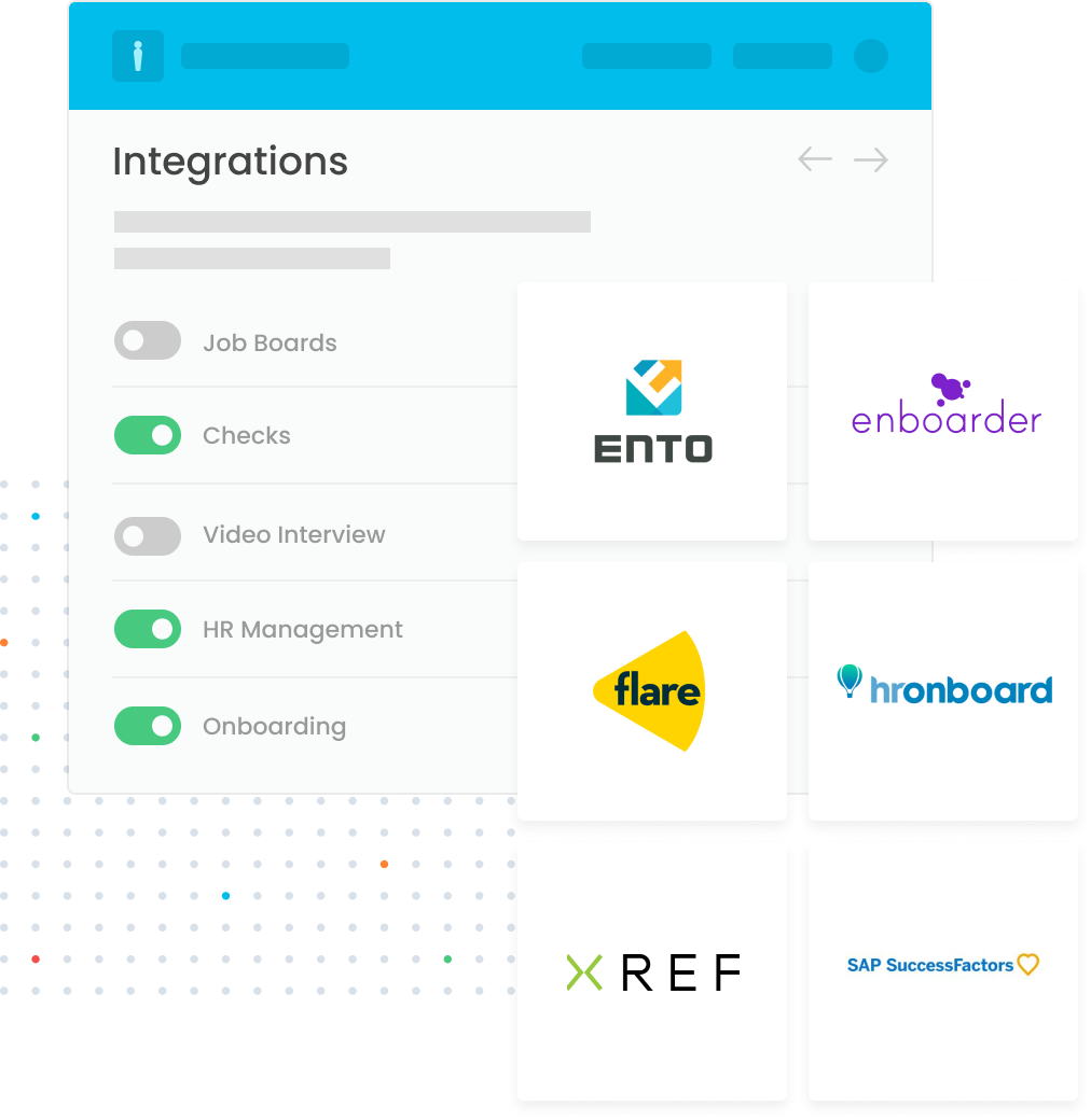 Easily connect LiveHire to your enterprise systems.