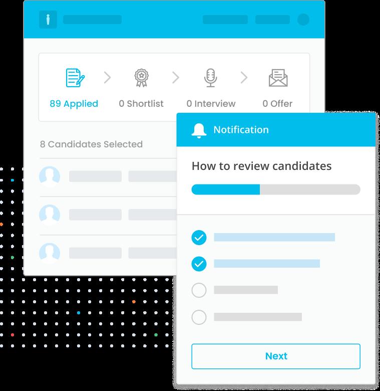 Create custom notifications to encourage the right behaviors.
